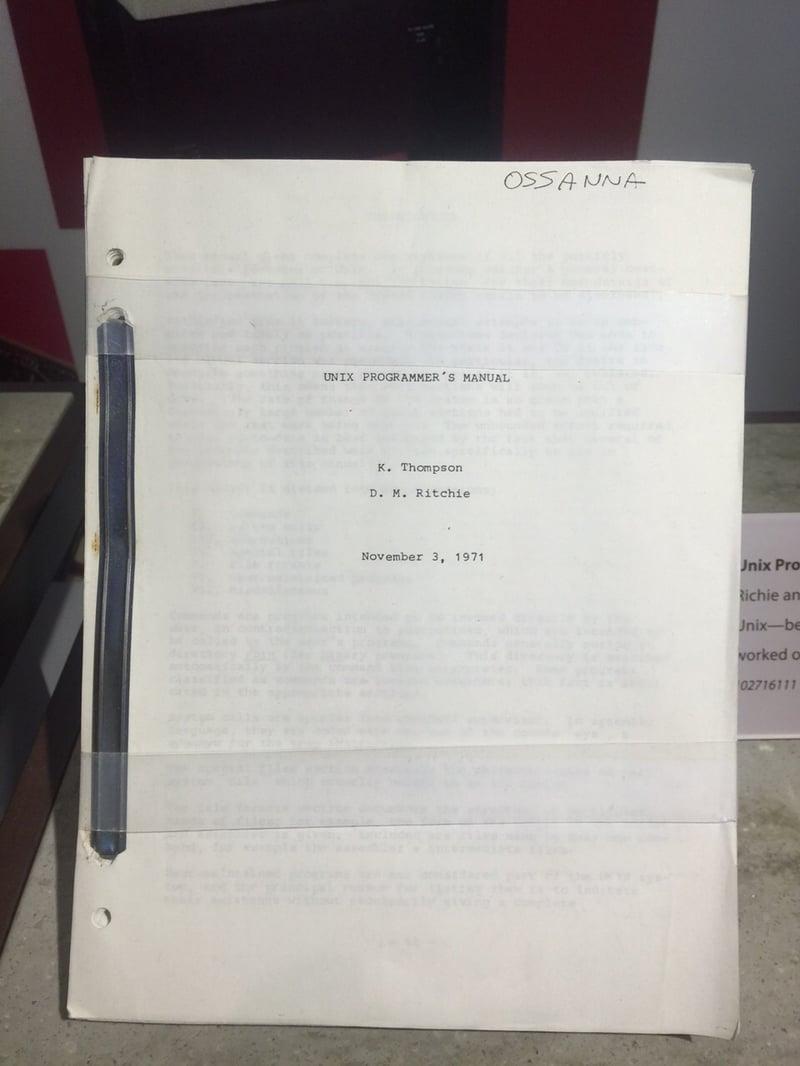 Unix First Operative Manual